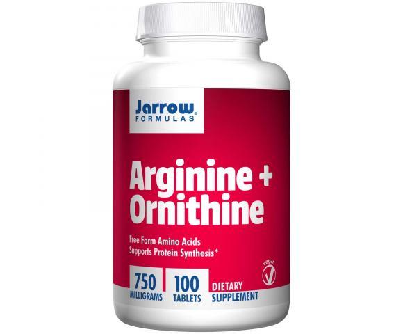 Jarrow Formulas Arginine + Ornithine 750 mg. (100 таб.)