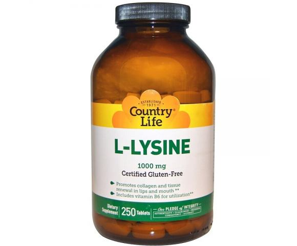 Country Life L-Lysine 1000 mg (250 таб.)