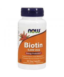 Now Foods Biotin 5000 mcg (60 капс.)