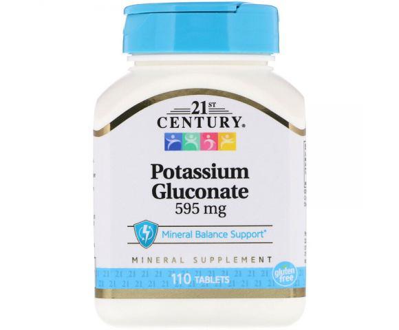 21st Century Potassium Gluconate 595 mg (110 таб.)