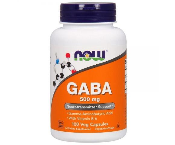 Now Foods GABA 500 mg (100 капс.)