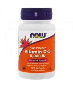 Now Foods Vitamin D-3 5000 IU (120 капс.)
