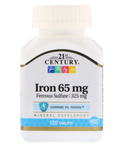 21st Century Iron 65 mg (120 таб.)