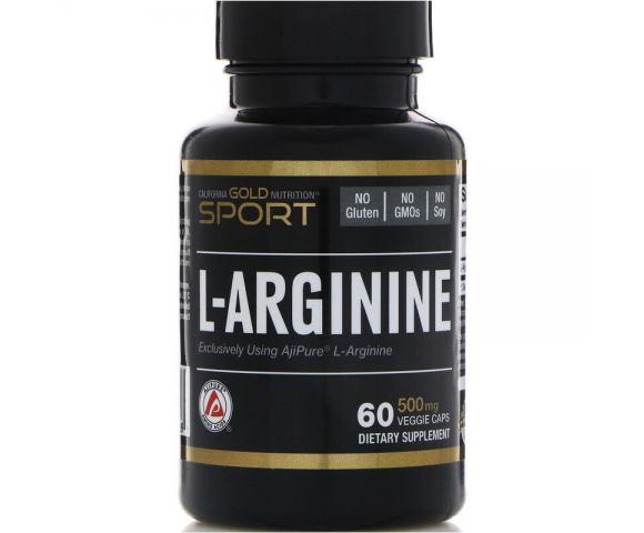 California Gold Nutrition L-Arginine (60 капс.)