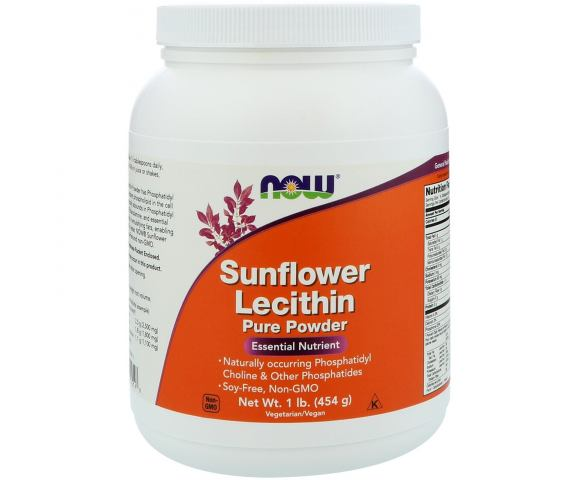 Now Foods Sunflower Lecithin (454 гр.)