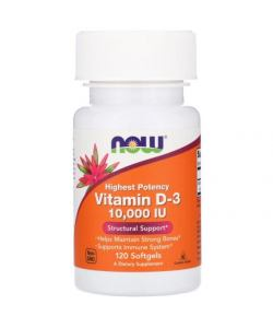 Now Foods Vitamin D-3 10000 IU (120 капс.)
