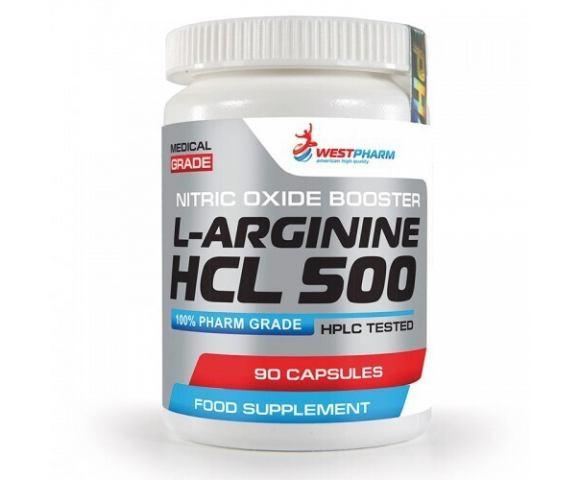 WestPharm L-Arginine HCL 500 (90 капс.)