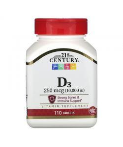 21st Century Vitamin D3 10000 (110 таб.)