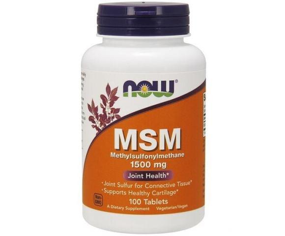 Now Foods MSM 1500 mg (100 таб.)
