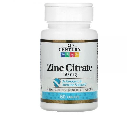 21st Century Zinc Citrate 50 mg (60 таб.)