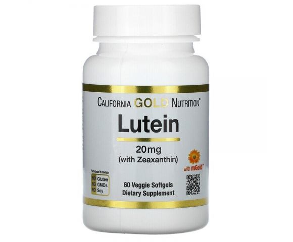 California Gold Nutrition Lutein 20 mg (60 капс.)