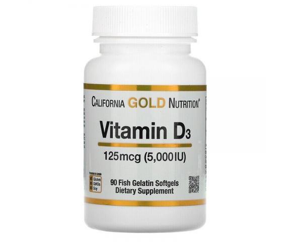 California Gold Nutrition Vitamin D3 5000 IU (90 капс.)
