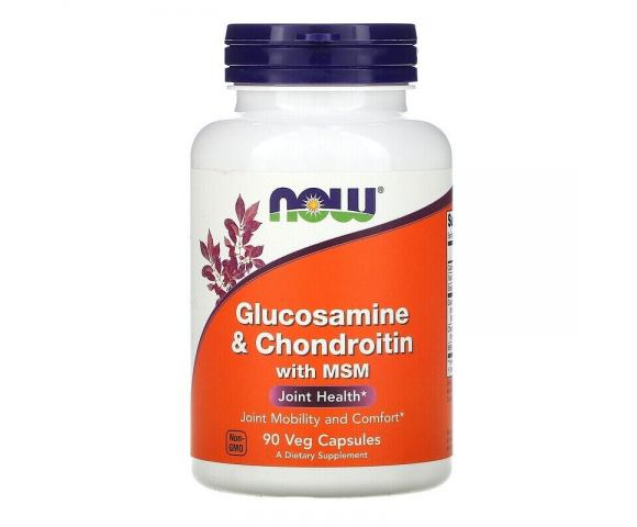 Now Foods Glucosamine & Chondroitin with MSM (90 капс.)