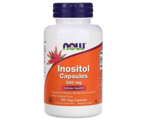 Now Foods Inositol 500 mg (100 капс.)