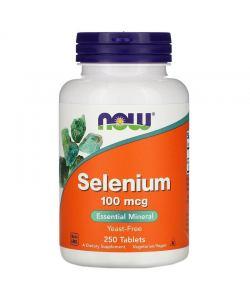 Now Foods Selenium 100 mcg (250 таб.)