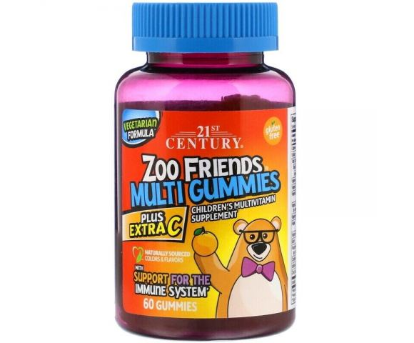 21st Century Zoo Friends Multi Gummies (60 конф.)