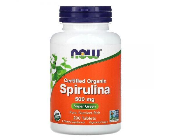 Now Foods Spirulina 500 mg (200 таб.)