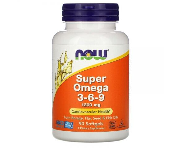 Now Foods Super Omega 3-6-9 1200 mg (90 капс.)