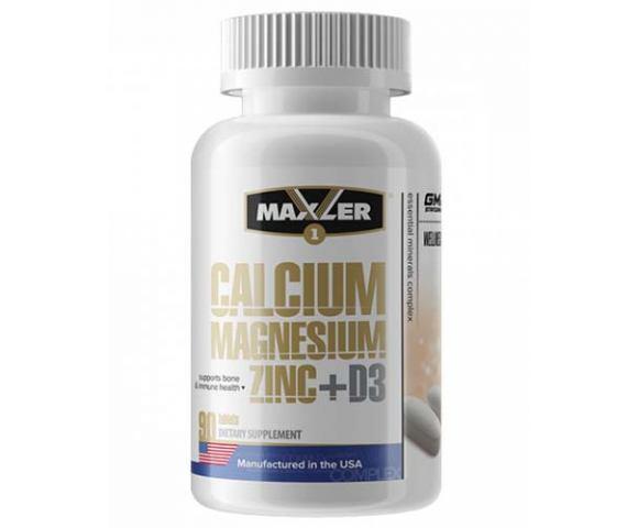 Maxler Calcium Magnesium Zinc+D3 (90 таб.)