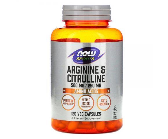 Now Foods Arginine & Citrulline (120 капс.)