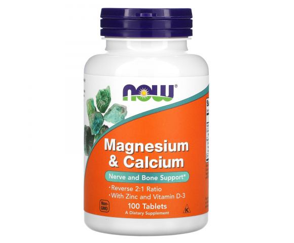 Now Foods Magnesium & Calcium (100 таб.)