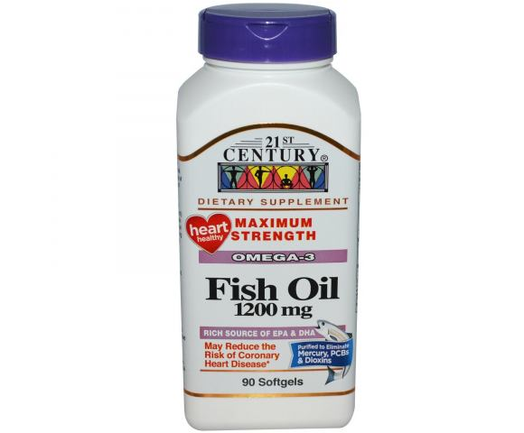 21st Century Fish Oil 1200 mg. (90 капс.)
