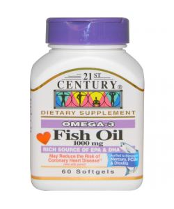 21st Century Fish Oil 1000 mg. (60 капс.)