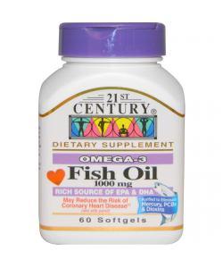 21st Century Fish Oil 1000 mg. (60 капс.)