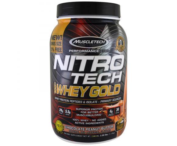 MuscleTech NitroTech Whey Gold (1130 гр.)