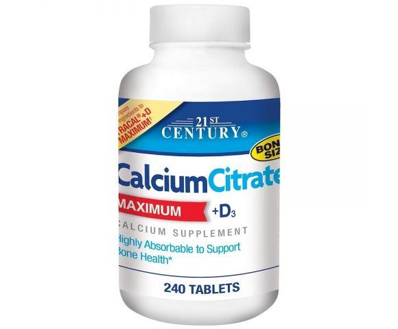 21st Century Calcium Citrate Maximum + D3 (240 таб.)
