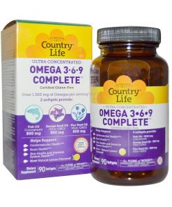 Country Life Omega 3•6•9 Complete (90 капс.)