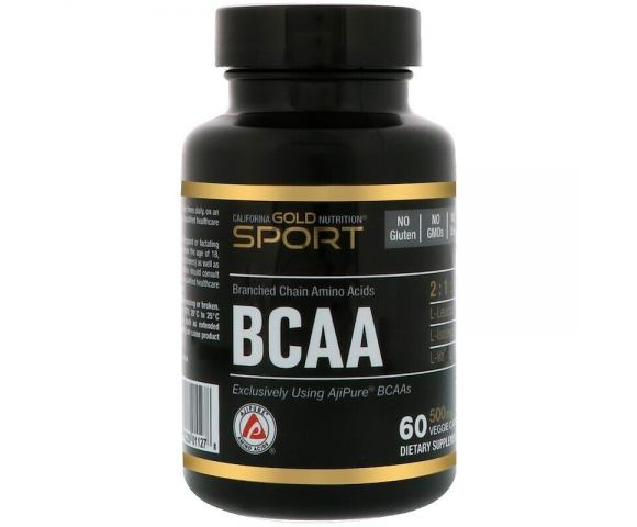 California Gold Nutrition BCAA 500 mg (60 капс.)