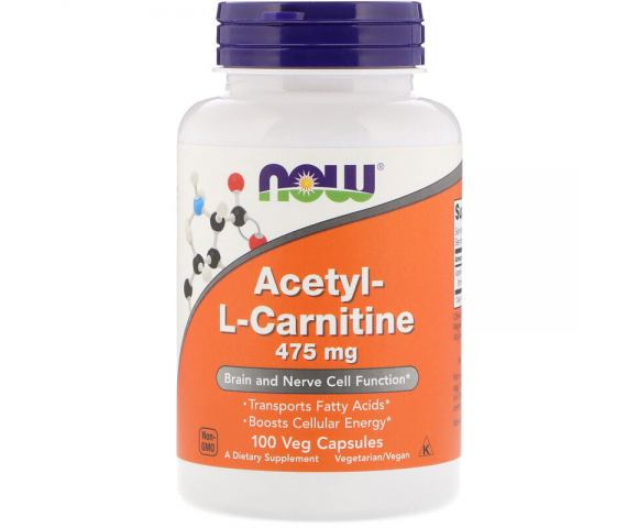 Now Foods Acetyl-L-Carnitine 475 mg (100 капс.)