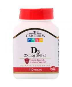 21st Century D3 1000 IU (110 таб.)