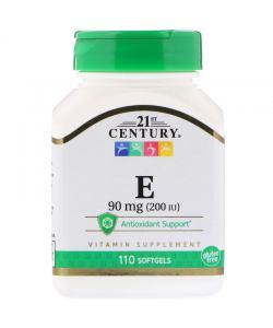 21st Century E 90 mg 200 IU (110 капс.)