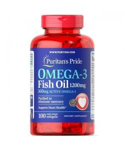 Puritan`s Pride Omega-3 Fish Oil 1200 mg (100 капс.)