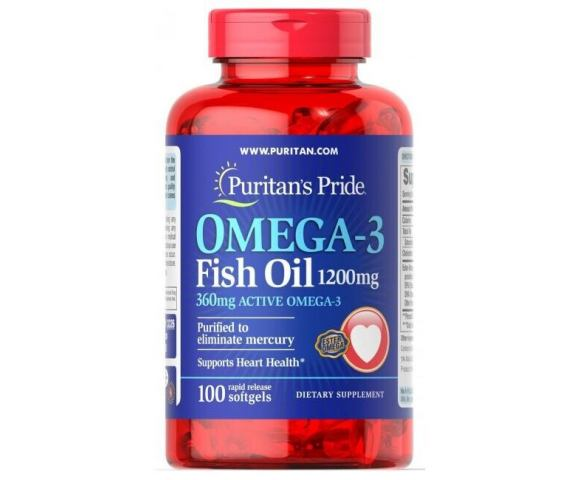 Puritan`s Pride Omega-3 Fish Oil 1200 mg (100 капс.)