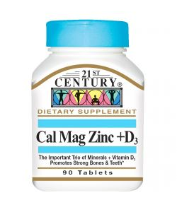 21st Century Cal Mag Zinc+D3 (90 таб.)