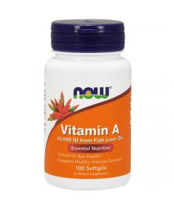 Now Foods Vitamin A (100 таб.)